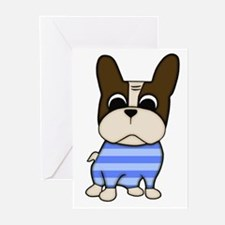 Pied Frenchie Greeting Cards (Pk of 10)