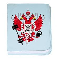 Crossfit WOD Coat of Arms baby blanket