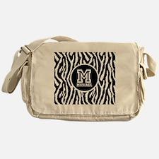 Zebra Animal Print Personalized Monogram Messenger