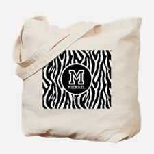 Zebra Animal Print Personalized Monogram Tote Bag