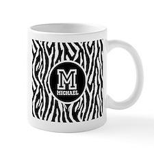 Zebra Animal Print Personalized Monogram Mug