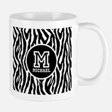 Zebra Animal Print Personalized Monogram Mug