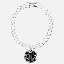 Zebra Animal Print Personalized Monogram Bracelet