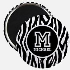 Zebra Animal Print Personalized Monogram Magnet