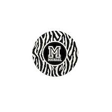 Zebra Animal Print Personalized Monogram Mini Butt