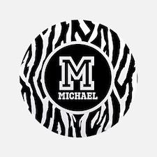 "Zebra Animal Print Personalized Monogram 3.5"" Butt"