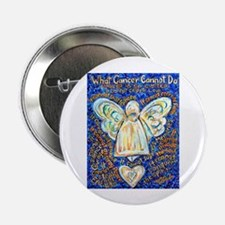 """Blue & Gold Cancer Angel 2.25"""" Button (10 pack)"""