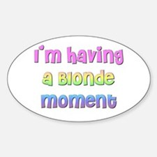 The Blonde's Oval Decal