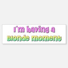The Blonde's Bumper Bumper Bumper Sticker