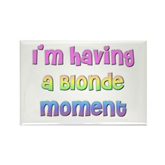 The Blonde's Rectangle Magnet (10 pack)