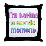 The Blonde's Throw Pillow