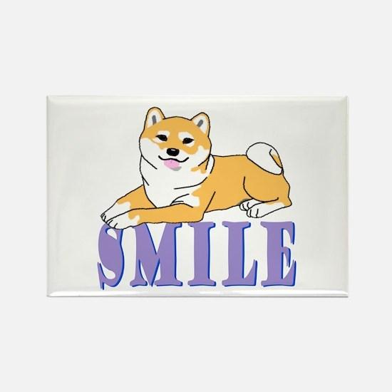 Shiba Smile Rectangle Magnet