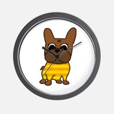 Brindle Frenchie Wall Clock