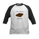 Chocolate Addict Kids Baseball Jersey