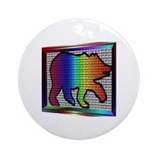 RAINBOW BEAR/PRISM BOX Ornament (Round)