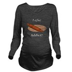 Lefse Addict Long Sleeve Maternity T-Shirt