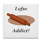 Lefse Addict Tile Coaster