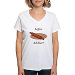 Lefse Addict Women's V-Neck T-Shirt