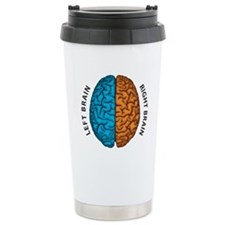 Right Brain vs Left Brain Travel Mug
