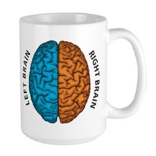 Right Brain vs Left Brain Mugs
