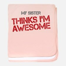 Sister Awesome baby blanket
