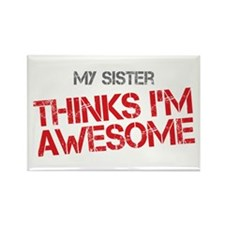 Sister Awesome Rectangle Magnet