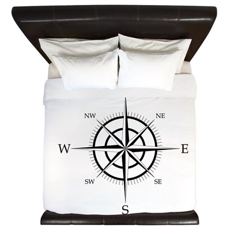 Compass Rose King Duvet