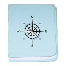 Compass Rose baby blanket