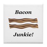Bacon Junkie Tile Coaster