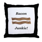 Bacon Junkie Throw Pillow