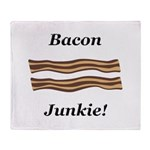 Bacon Junkie Throw Blanket