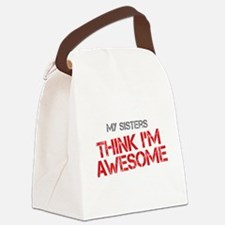 Sisters Awesome Canvas Lunch Bag