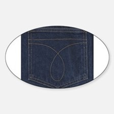 Dark Blue Denim Pocket Decal