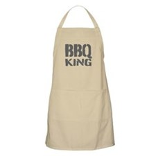 Beige BBQ King Apron For Men | Khaki