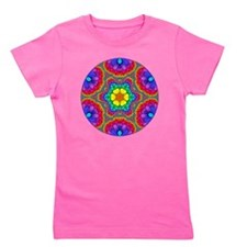 Rainbow Flower Mandala Girl's Tee