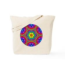Rainbow Flower Mandala Tote Bag