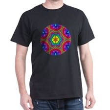 Rainbow Flower Mandala T-Shirt