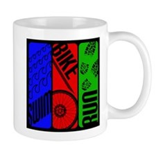 Triathlon TRI Swim Bike Run Mugs
