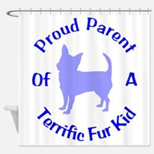 Proud Chi Owner 110 Shower Curtain