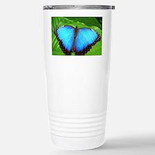 Blue Butterfly Stainless Steel Travel Mug