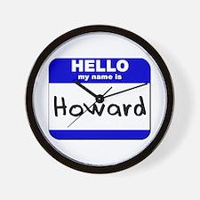 hello my name is howard  Wall Clock
