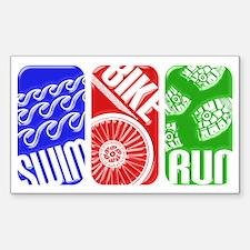 Triathlon TRI Swim Bike Run 3D Decal