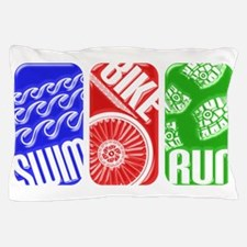 Triathlon TRI Swim Bike Run 3D Pillow Case