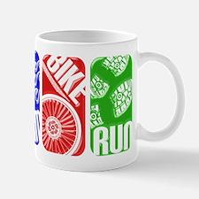 Triathlon TRI Swim Bike Run 3D Mugs