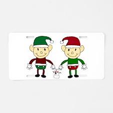 Christmas Elves Aluminum License Plate