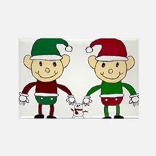 Christmas Elves Magnets