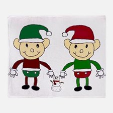 Christmas Elves Throw Blanket