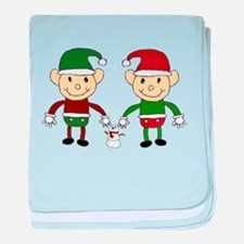 Christmas Elves baby blanket