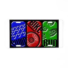 Triathlon TRI Swim Bike Run 3D Aluminum License Pl