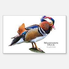 Mandarin Duck Sticker (Rectangle)